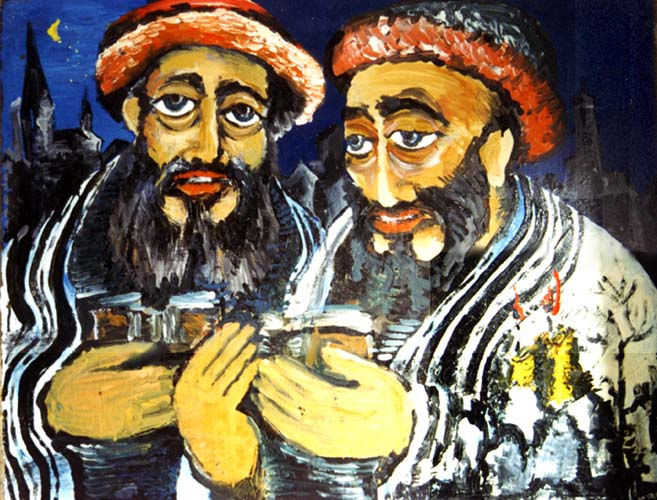 Hillel and Shammai from the Czernowitz Haggadah